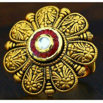 916 Antique Gold Jadtar Ring by