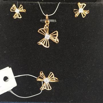 Real Diamond Light Wt Pendant Set by