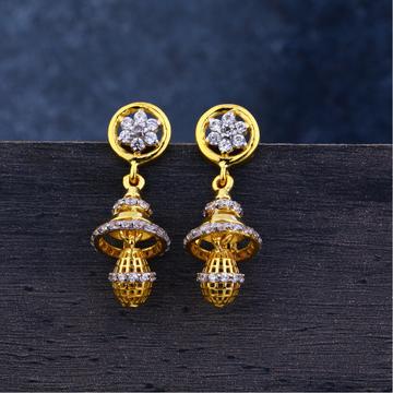 Ladies 916 Gold jUmmar Classic Earrings -LJE115