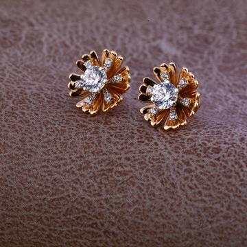 18kt Gold Designer Stylish Earring RE73