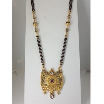 22KT Gold Antique Mani Moti Mangalsutra IO-A012