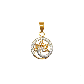 22K Gold Peacock Shaped Pendant MGA - PDG0228