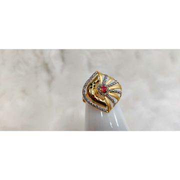 916 Ladies Fancy Colour Stone Ring R-15067