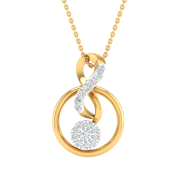 Designing real diamond fancy pendant by