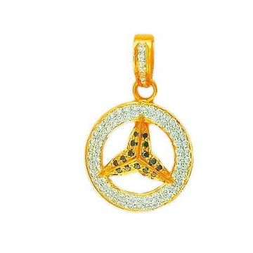 22K Gold CZ Fancy Pendant