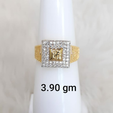 916 Fancy light weight Om Gent's ring by