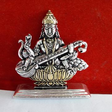Silver Sarswati Murti by