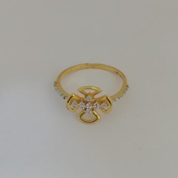 916 gold fancy flower design ladies ring by Vinayak Gold