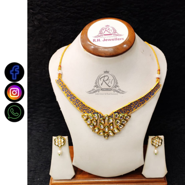22 carat gold antique ladies set RH-LS418