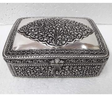 92.5 pure silver dry fruit box (pandan) in fine na...