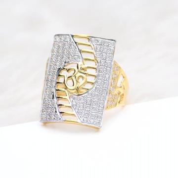 916 Gold 22Kt  CZ Daimond OM Ring RH-GR55