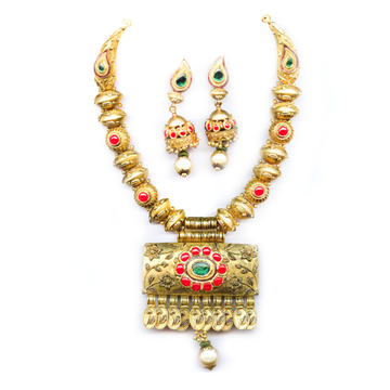 22KT Gold Antique Tribal Rabarighat Necklace Set