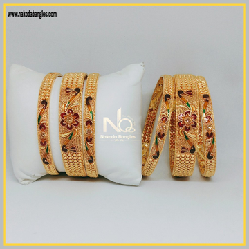 916 Gold Patla Bangles NB-299