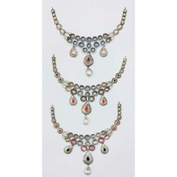 92.5 Sterling Silver Jadtar Half Necklace Ms-2854