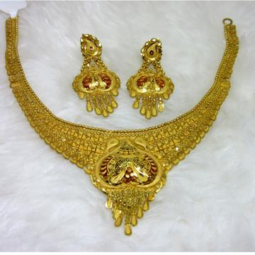 Gold Broad Semi Culcutti Set