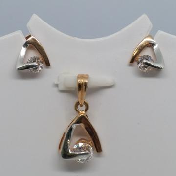 18 kt rose gold pendant set by Zaverat
