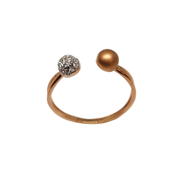 18K Rose Gold Matte Finish Designer Ring MGA - LRG1155