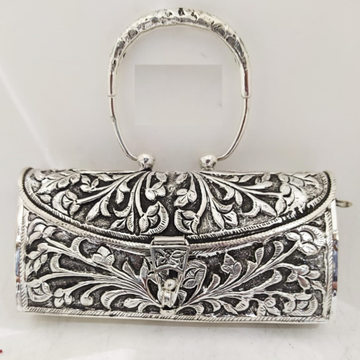 Maanniya pure silver shoulder bag with stylish han...