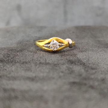 22K Ladies Single Stone Gold Ring-21006