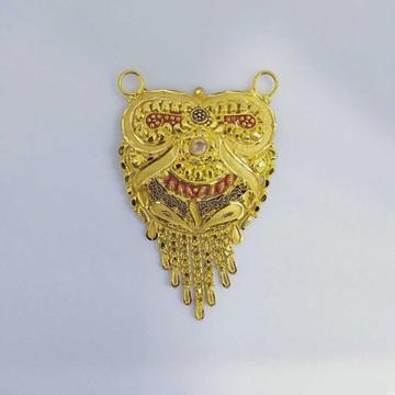 916 Gold Fancy Mangalsutra Pendants RJ-MP023 by
