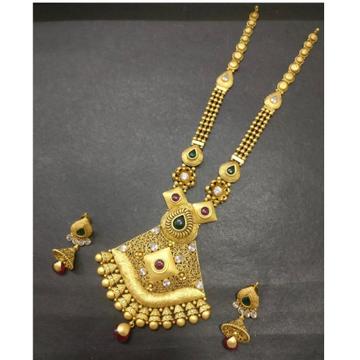 22kt 916 Antique Gold Indian Bridal Long Necklace... by Kundan