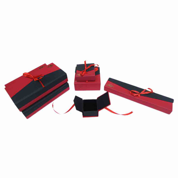 Red black ribbon jewellery box