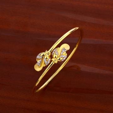 18CT CZ Women's Exclusive Hallmark  Kada Bracelet...