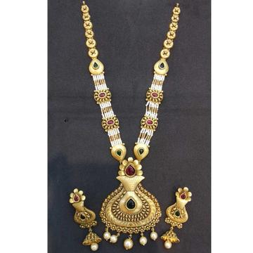 22kt gold jodhpuri antique set by