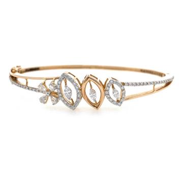 18kt / 750 rose gold micro set diamond bracelet 8b...