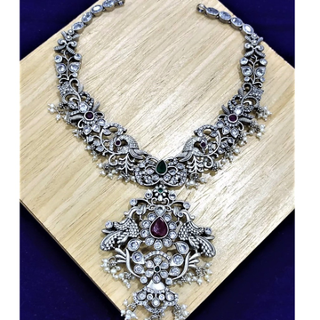 Twinny peacock motifs neckpiece by puran