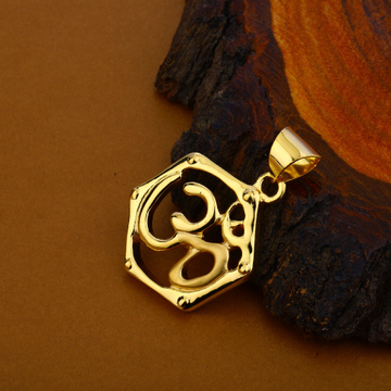 Om Gold Hollow Pendant-HLP105