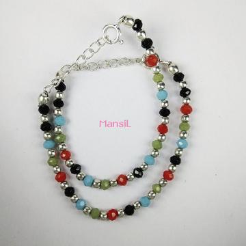 92.5 sterling silver Baby najriya bracelet ML-100