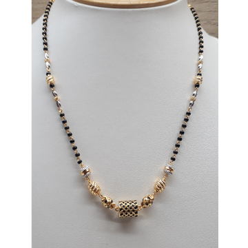 22K Gold Antique Mangalsutra Dokia IO-AN010