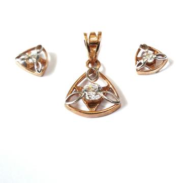 18k rose gold pendant set mga - rps003