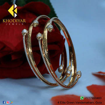 916 Gold Fancy Bangle For Women KJ-B002