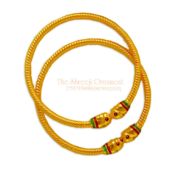 22KT Gold Colorful Variya Copper Kadali - 006
