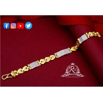 22 carat gold classical gents bracelet RH-GB420