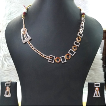 18kt gold delicate bridal necklace set