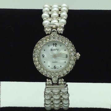 Freshwater White Round Pearls 3 Layers Watch JBG02...
