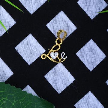 916 Gold CZ Love Pendant JJ-P035