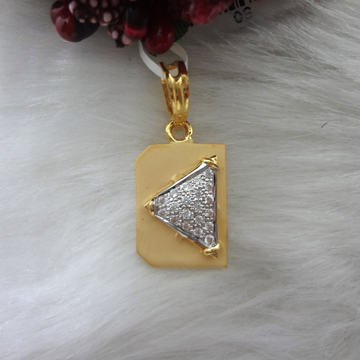 916 GOLD CZ DIAMOND GENTS PENDANT