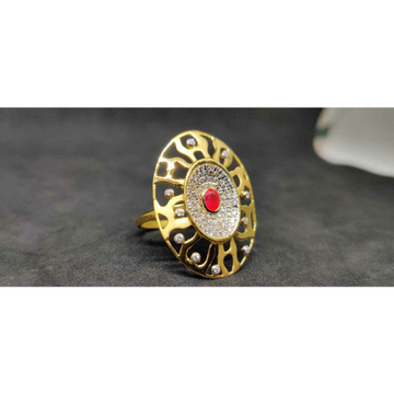 916 Desginer Long Gold Ring Lr - 17083