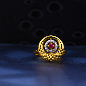 22kt Gold Ladies Hallmark Ring LR28