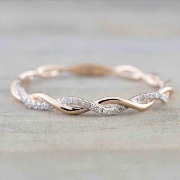 18KT Rose Gold Ladies Diamond Engagement Ring