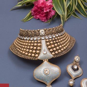 har set Kundan Chokar Set 916 Bridal Set Rajputi G... by