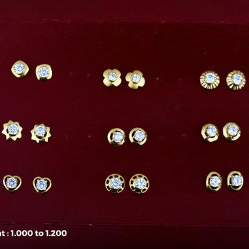 18 kt kids earrings light weight design
