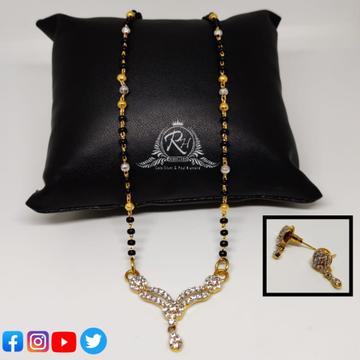22 carat gold mangalsutra RH-MN363