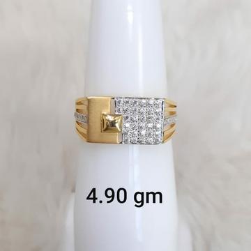 916 fancy daily wear Cz gents ring by