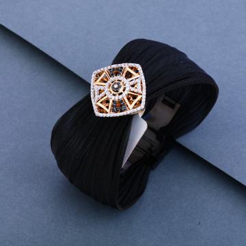 18kt Rose Gold Classic Leather Bracelet LLKB10