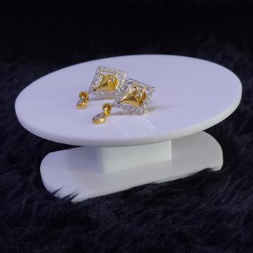 22KT/916 Yellow Gold Hamsa Earrings For Women